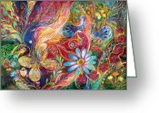 Signed Greeting Cards - The colors of Spring. The original can be purchased directly from www.elenakotliarker.com Greeting Card by Elena Kotliarker