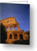Latium Region Greeting Cards - The Colosseum Lit By The Late Day Sun Greeting Card by Taylor S. Kennedy