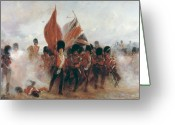 Soldiers Painting Greeting Cards - The Colours Greeting Card by Elizabeth Southerden Thompson
