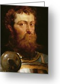 Rubens Painting Greeting Cards - The Commanders Head  Greeting Card by Peter Paul Rubens