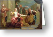 Rehearsal Greeting Cards - The Concert  Greeting Card by Etienne Jeaurat
