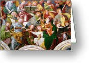 Fresco Greeting Cards - The Concert of Angels Greeting Card by Gaudenzio Ferrari