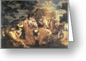 Concert Painting Greeting Cards - The Concert of Muses Greeting Card by Tintoretto