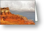 Geologic Formations Greeting Cards - The Condors Land Greeting Card by Christine Till