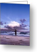 Waves Painting Greeting Cards - The Conductor Greeting Card by Jerry LoFaro