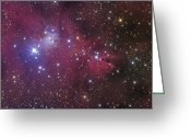 Star Clusters Greeting Cards - The Cone Nebula Greeting Card by Roth Ritter