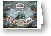Military Mixed Media Greeting Cards - The Confederate Note Memorial  Greeting Card by War Is Hell Store