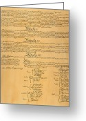 Autograph Photo Greeting Cards - The Constitution, 1787 Greeting Card by Granger