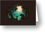 Forest Greeting Cards - The Conversationalist Greeting Card by Budi Satria Kwan