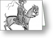 Canterbury Tales Greeting Cards - The Cook Of London Greeting Card by Granger