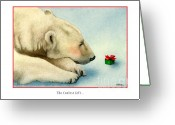 Polar Bear Greeting Cards - The Coolest Gift... Greeting Card by Will Bullas