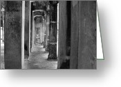 Nikon D200 Greeting Cards - The Corridor Greeting Card by Donna Caplinger