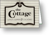 Chic Greeting Cards - The Cottage Greeting Card by Lisa Russo