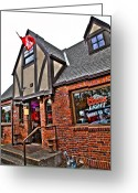 Wsu Cougs Greeting Cards - The Coug Bar and Grill Greeting Card by David Patterson