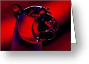 Wsu Cougs Greeting Cards - The Cougar Greeting Card by David Patterson