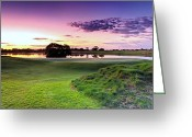 Golf Green Greeting Cards - The Country Club Greeting Card by Mark Lucey