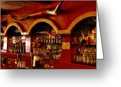 Cowboy Hats Greeting Cards - The Cowboy Club Bar in Sedona Arizona Greeting Card by David Patterson