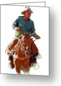 Bloomfield Greeting Cards - The Cowboy Greeting Card by Randy Follis