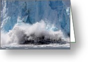 Glacier Greeting Cards - The crash Greeting Card by Sophie Vigneault