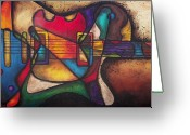 Cubist Greeting Cards - The Crazy Eight Greeting Card by Darlene Keeffe