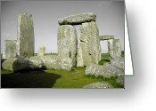 Sacrificial Greeting Cards - The Crow at Stonehenge Greeting Card by Kamil Swiatek