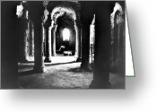 Dim Greeting Cards - The Crypt Greeting Card by Simon Marsden