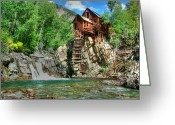 Old Mills Greeting Cards - The Crystal Mill 1 Greeting Card by Ken Smith