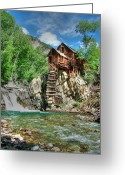 Old Mills Greeting Cards - The Crystal Mill in Crystal Colorado Greeting Card by Ken Smith