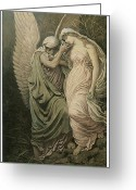 Vedder Greeting Cards - The Cup of Death Greeting Card by Elihu Vedder