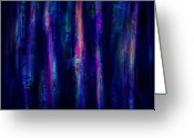 Haunted  Digital Art Greeting Cards - The Curtain Greeting Card by Rachel Christine Nowicki