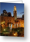 Faneuil Greeting Cards - The Custom House of Boston Greeting Card by Juergen Roth