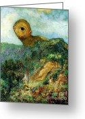 Redon Greeting Cards - The Cyclops Greeting Card by Pg Reproductions