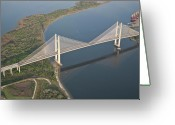 Dames Greeting Cards - The Dames Point Bridge Greeting Card by John Binkley
