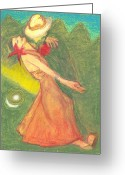Colours Pastels Greeting Cards - The Dance Greeting Card by Moneca AtleyLoring