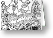 Resurrected Greeting Cards - The Dance Of Death, Allegorical Artwork Greeting Card by 