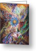 Mitzvah Greeting Cards - The Dance of Light Greeting Card by Elena Kotliarker