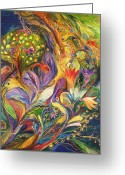 Signed Greeting Cards - The Dance of Lilies Greeting Card by Elena Kotliarker