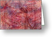Female Fairy Abstract Greeting Cards - The Dancer Greeting Card by Rachel Christine Nowicki
