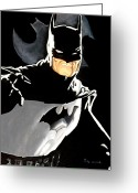 Batman Greeting Cards - The Dark Knight Greeting Card by Al  Molina
