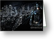 Batman Greeting Cards - The Dark Knight Greeting Card by The DigArtisT