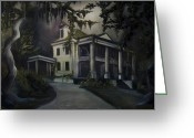 James Christopher Hill Greeting Cards - The Dark Plantation Greeting Card by James Christopher Hill