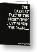 Batman Greeting Cards - The Darkest Part of the Night Greeting Card by Nomad Art And  Design