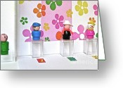 Fisher Price Little People Greeting Cards - The Dating Game Greeting Card by Ricky Sencion