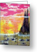 Outerspace Greeting Cards - The Dawn Greeting Card by Sandy Wager