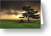 Sunset Posters Photo Greeting Cards - The Day Is Done Greeting Card by Thomas York