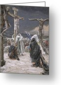 James Jacques Joseph Greeting Cards - The Death of Jesus Greeting Card by Tissot