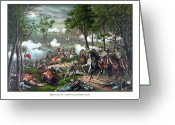 Civil Painting Greeting Cards - The Death Of Stonewall Jackson Greeting Card by War Is Hell Store