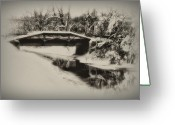 Delaware River Greeting Cards - The Delaware Canal at Washingtons Crossing  Greeting Card by Bill Cannon