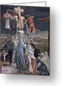 Biblical Greeting Cards - The Descent from the Cross Greeting Card by Tissot