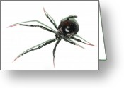 Black Widow Painting Greeting Cards - The Devil  Wears Pink Toe Nails. Greeting Card by Richard Brooks
